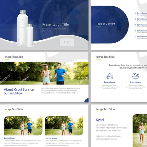 Powerpoint template for Kyani and Fleuresse