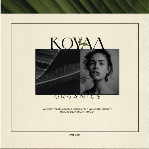 Logo (+Brandguide) for Koyaa Organics.