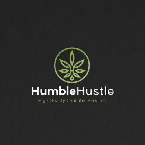 Modern Badge Logo for a medical cannabis cultivator. Small batch Maine grown organic marijuana and related products.