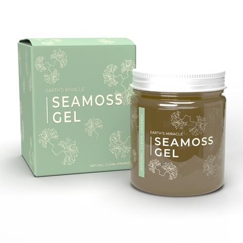 Seamoss Gel Minimalistic Label