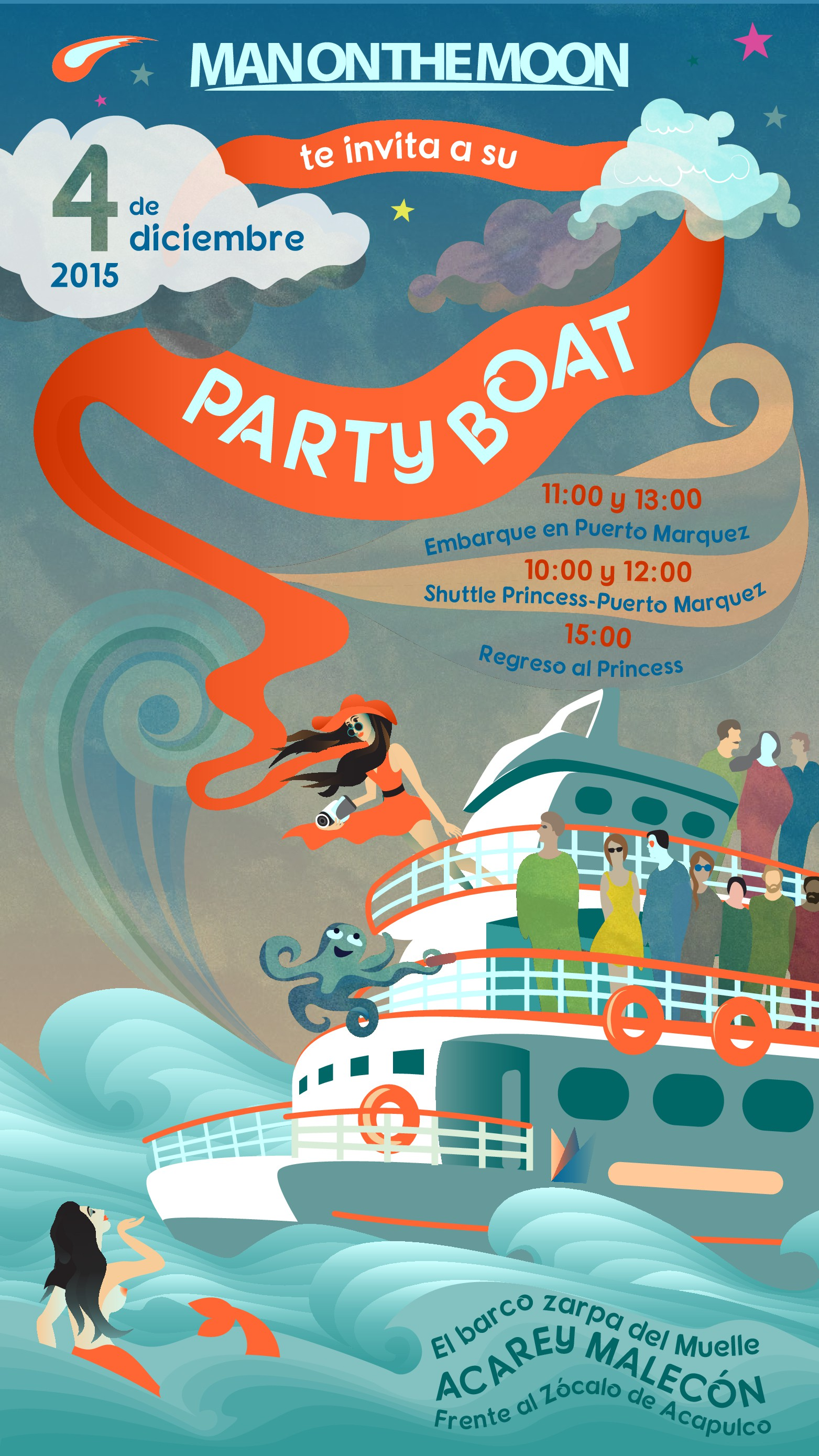Invitation to Party Boat event.