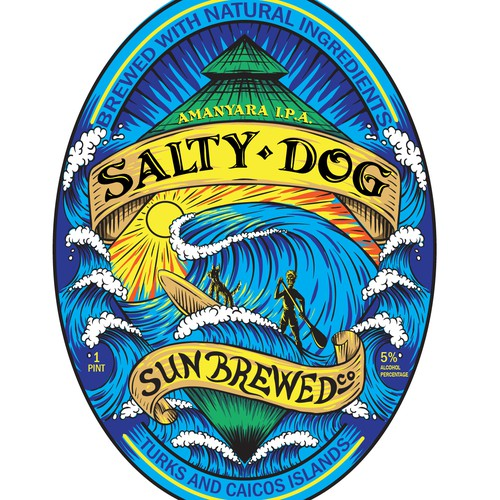 a label concept for a SUP inspired beer company