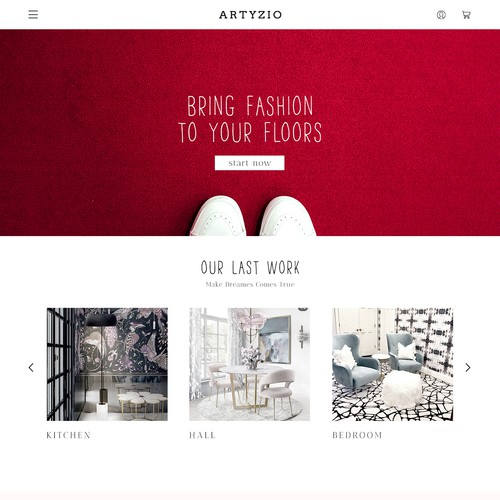 fashion carpet web site (homepage)