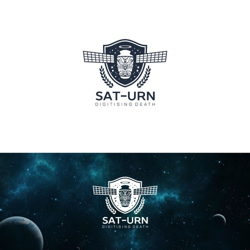 space, satellite logo concept