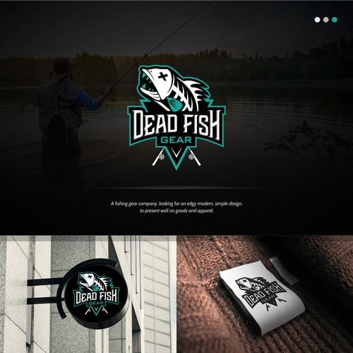 A sleek Fishing Gear Logo for Dead Fish Gear