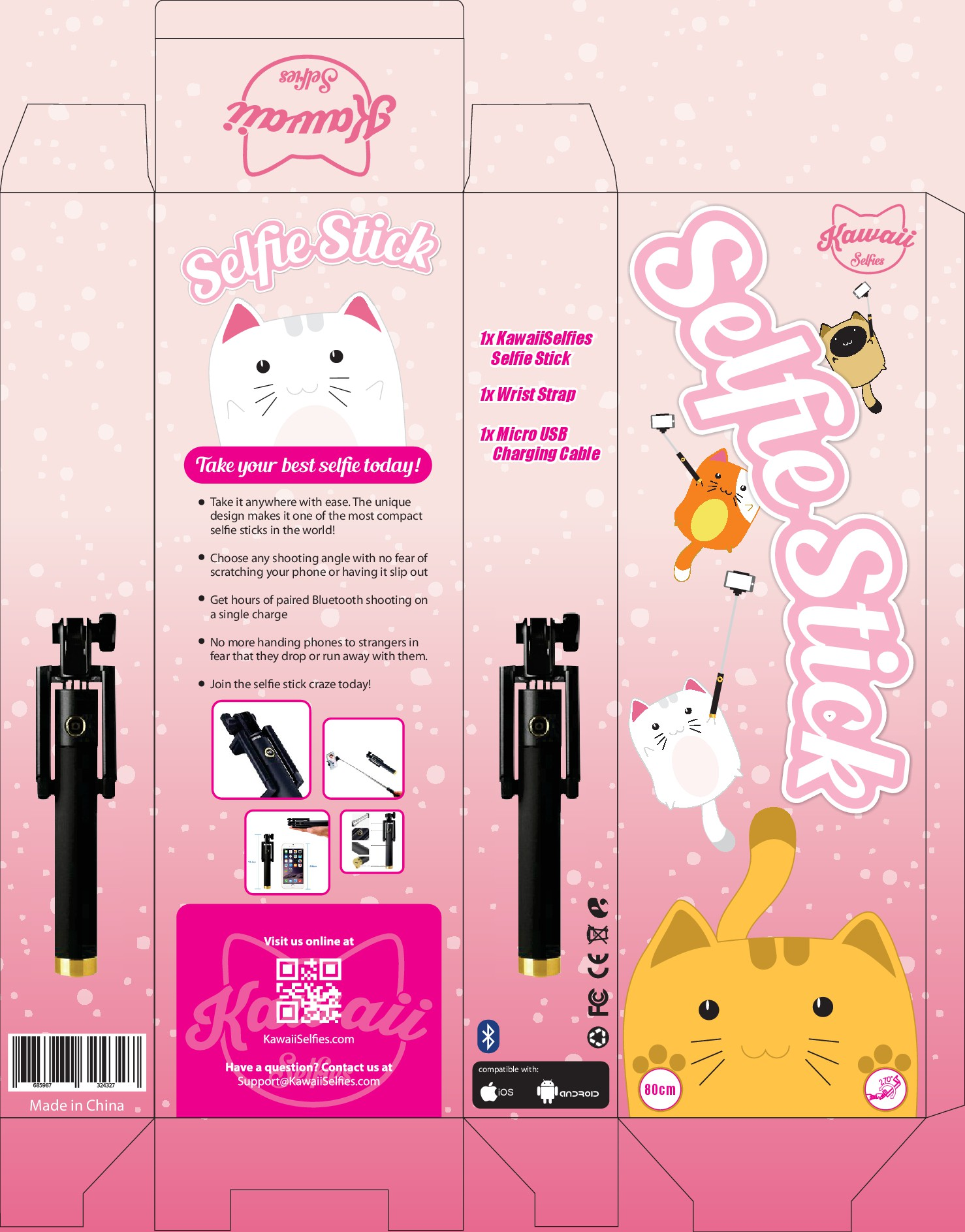 Guaranteed Winner! - Looking for cute design for Selfie Stick packaging