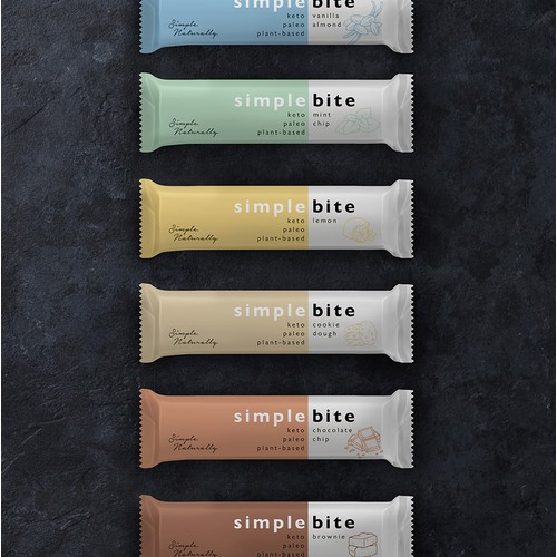 Brand identity and packaging design for Simple Bite