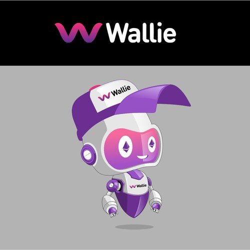 robot character illustration for Wallie.me