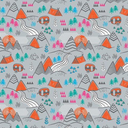 Outdoor pattern for nature lovers
