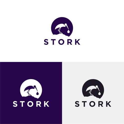 Stork logo Silhoutte