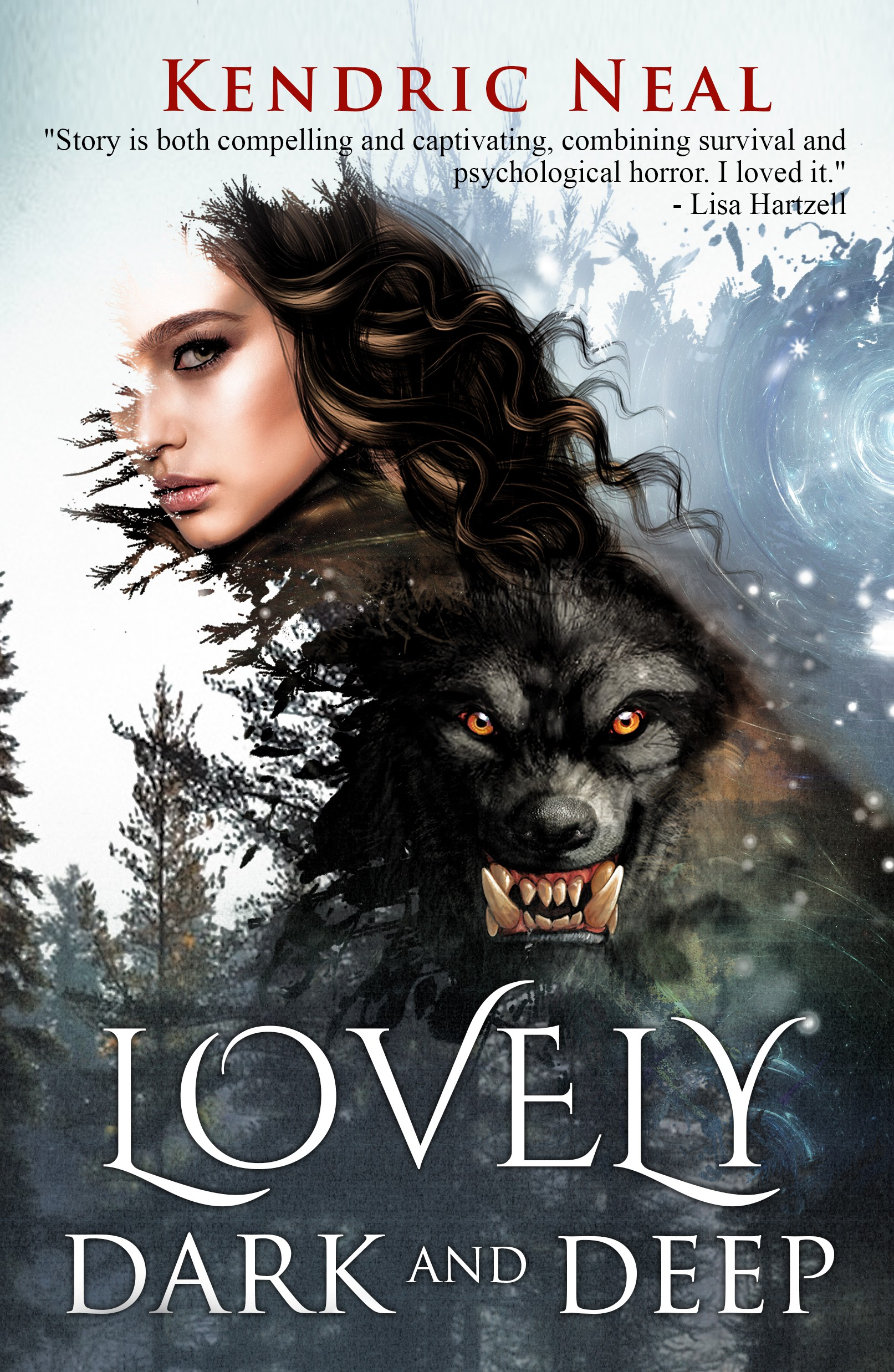 Psychological Horror book with demon and fantasy imagery