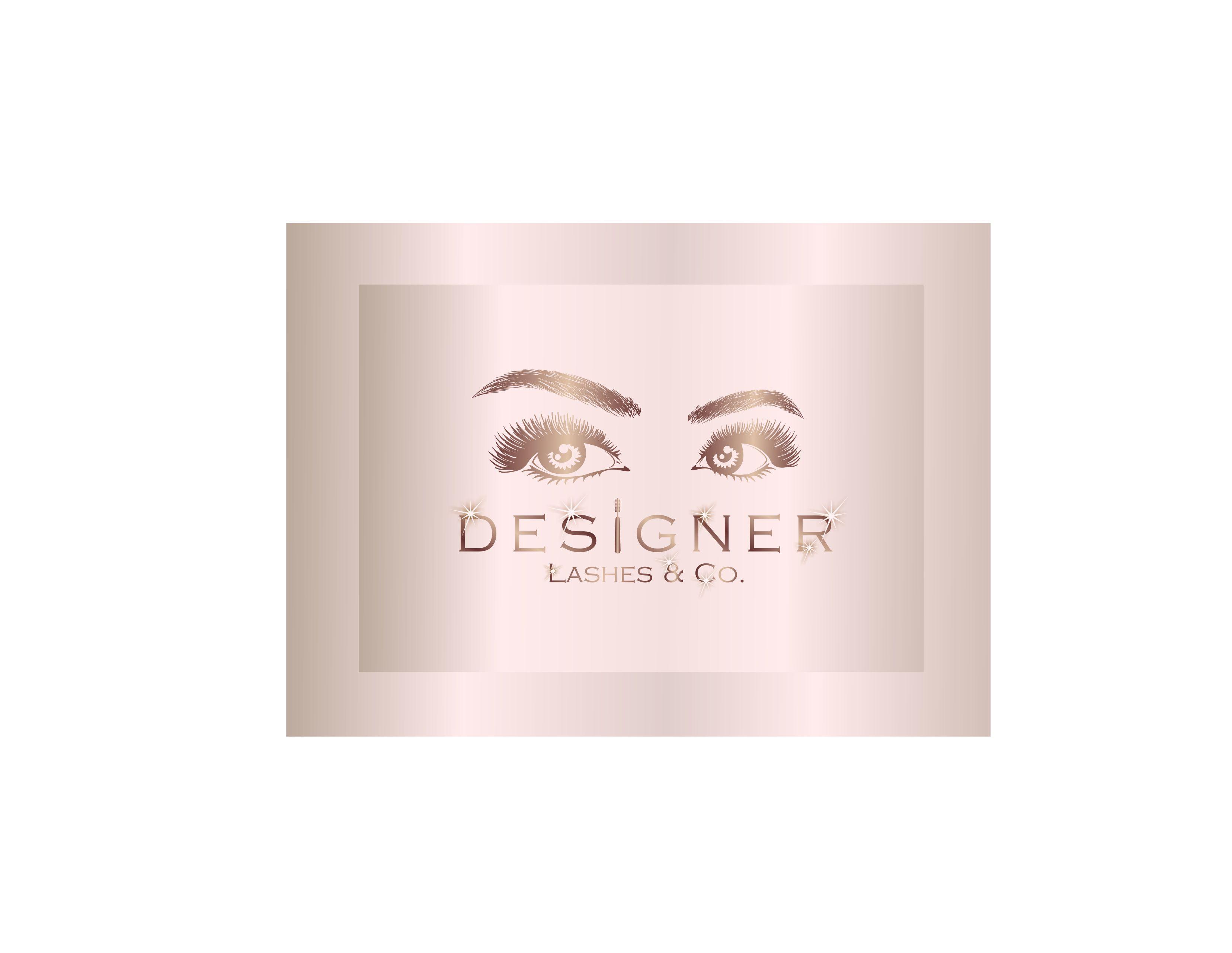 Eye lash extension business logo