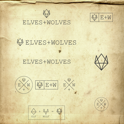 Logo design for  Elves and Wolves: a new fashion brand / bloggers.