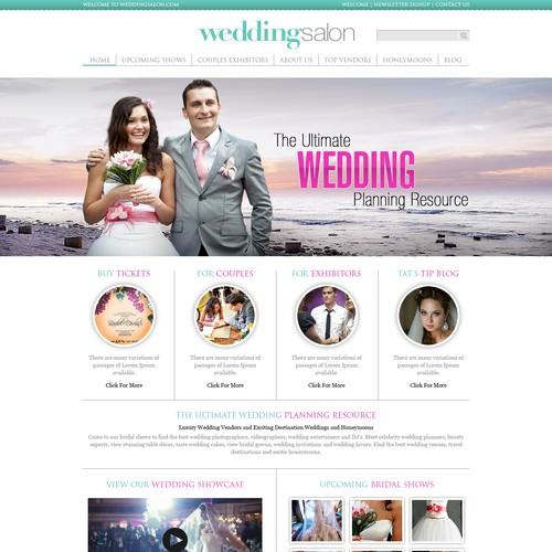 Wedding Salon Website Re-Design
