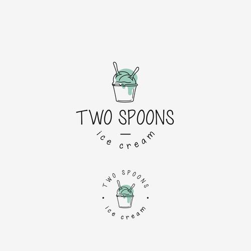 Two Spoons ice cream