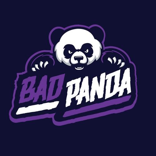 bold angry panda