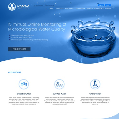 Website for Water Treatment company