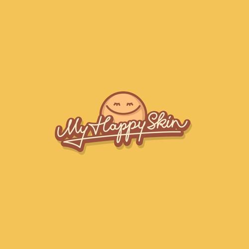 "Logo Concept for ""MyHappySkin"""