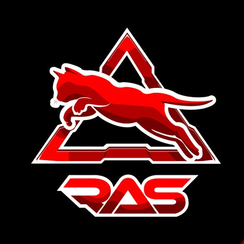Creative bold modern  and cool Logo concept for RAS