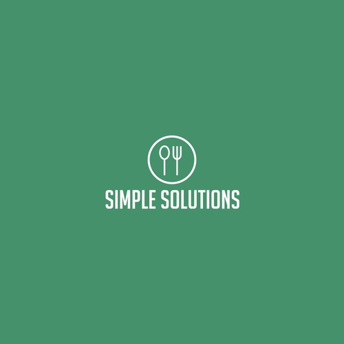 simple logo for food catering