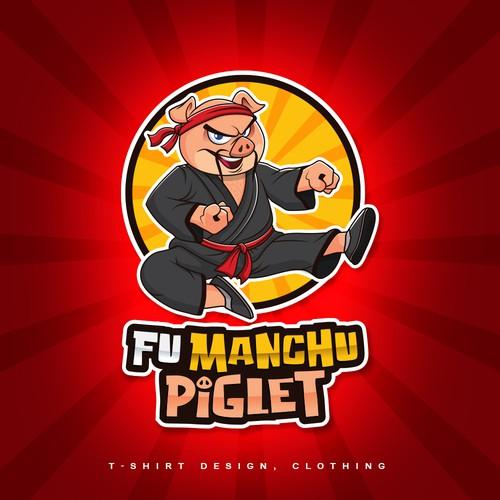 Fu Manchu Piglet