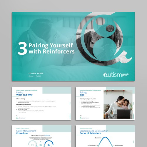 Presentation design for a therapy company