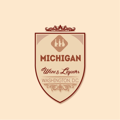 Logo - Michigan Wine and Liquors