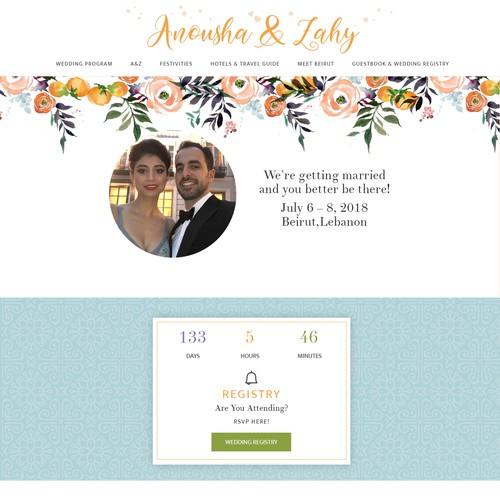 Cool, Fresh, Mediterranean Wedding Website