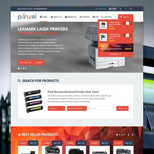 Website for online shop of remanufacturing toners !