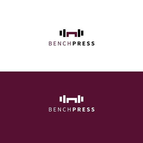 sophisticated logo concept for benchpress