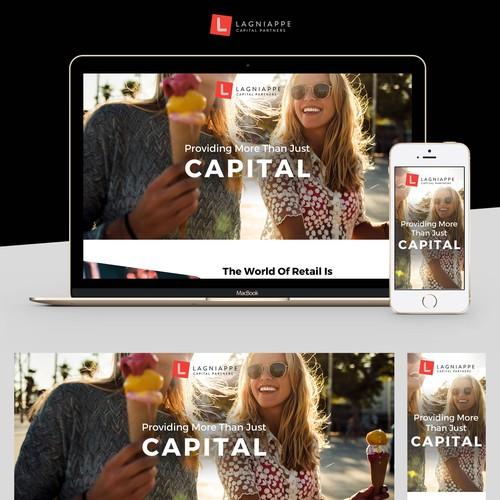 Unique web page design for retail company