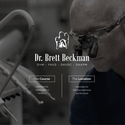 Simple & Clean Veterinary Dentistry Web Page Design