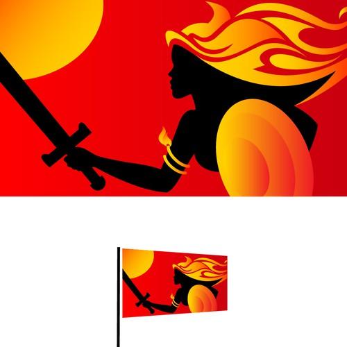 Sailboat battle flag - Solaia