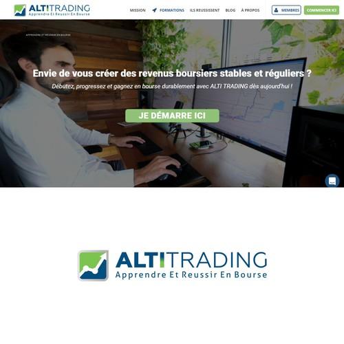 Bold logo concept for ALTI TRADING
