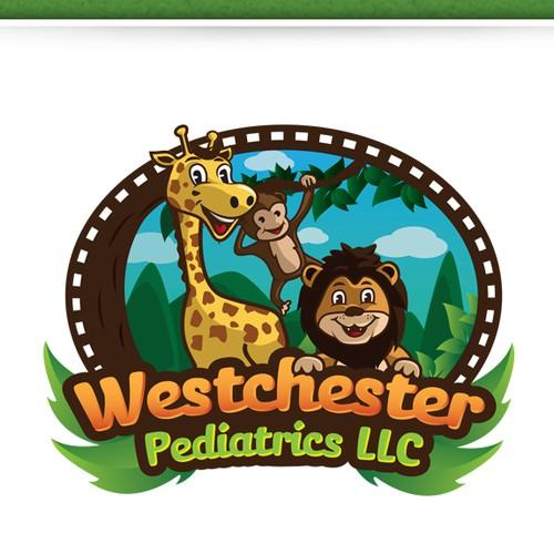 Jungle LOGO theme for a pediatric office located in Miami Florida