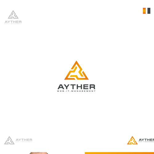 AYTHER - IT, Web... Awesome - Logo and Business Card