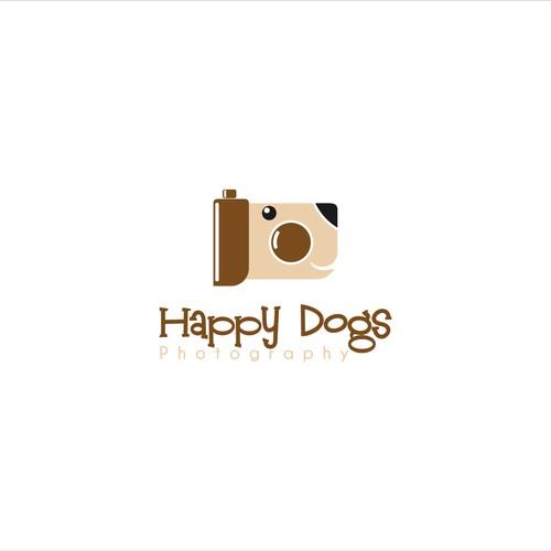 Create a unique illustration for Happy Dogs!