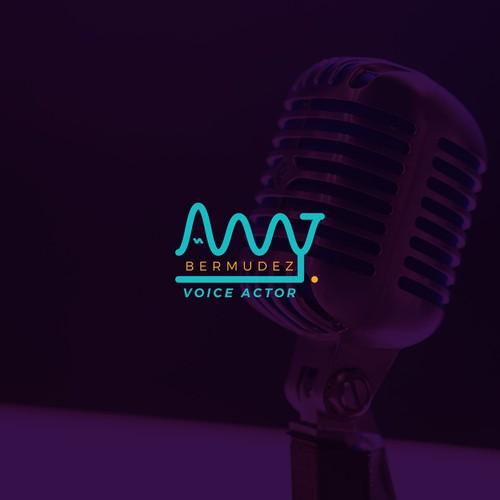 Logo concept for a voice actor
