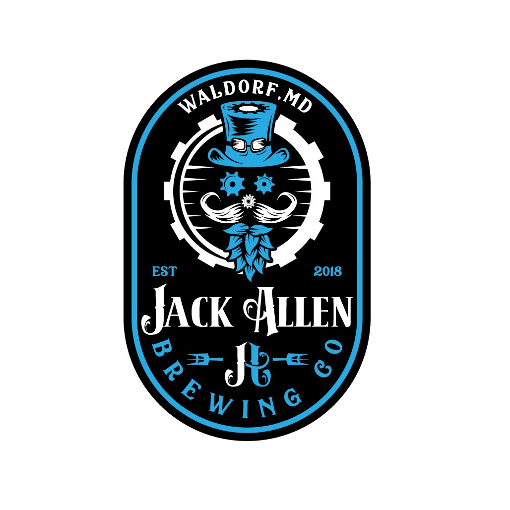 Retro/Steampunk Brewery logo design (Jack Allen Brewing Co.)