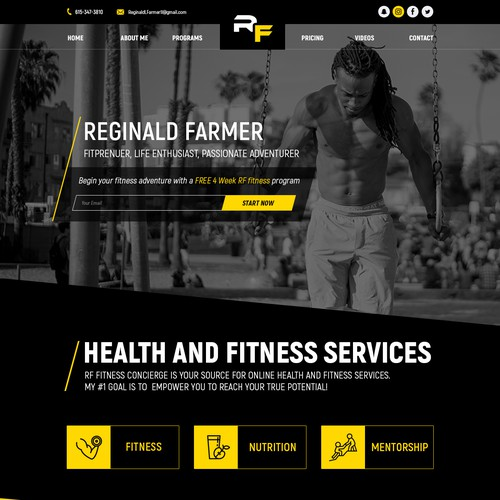 Reginald Farmer personal website