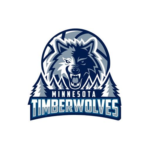 Redesign logo concept for Minnesota Timberwolves