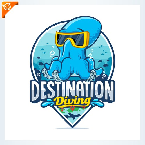 DESTINATION DIVING logo design