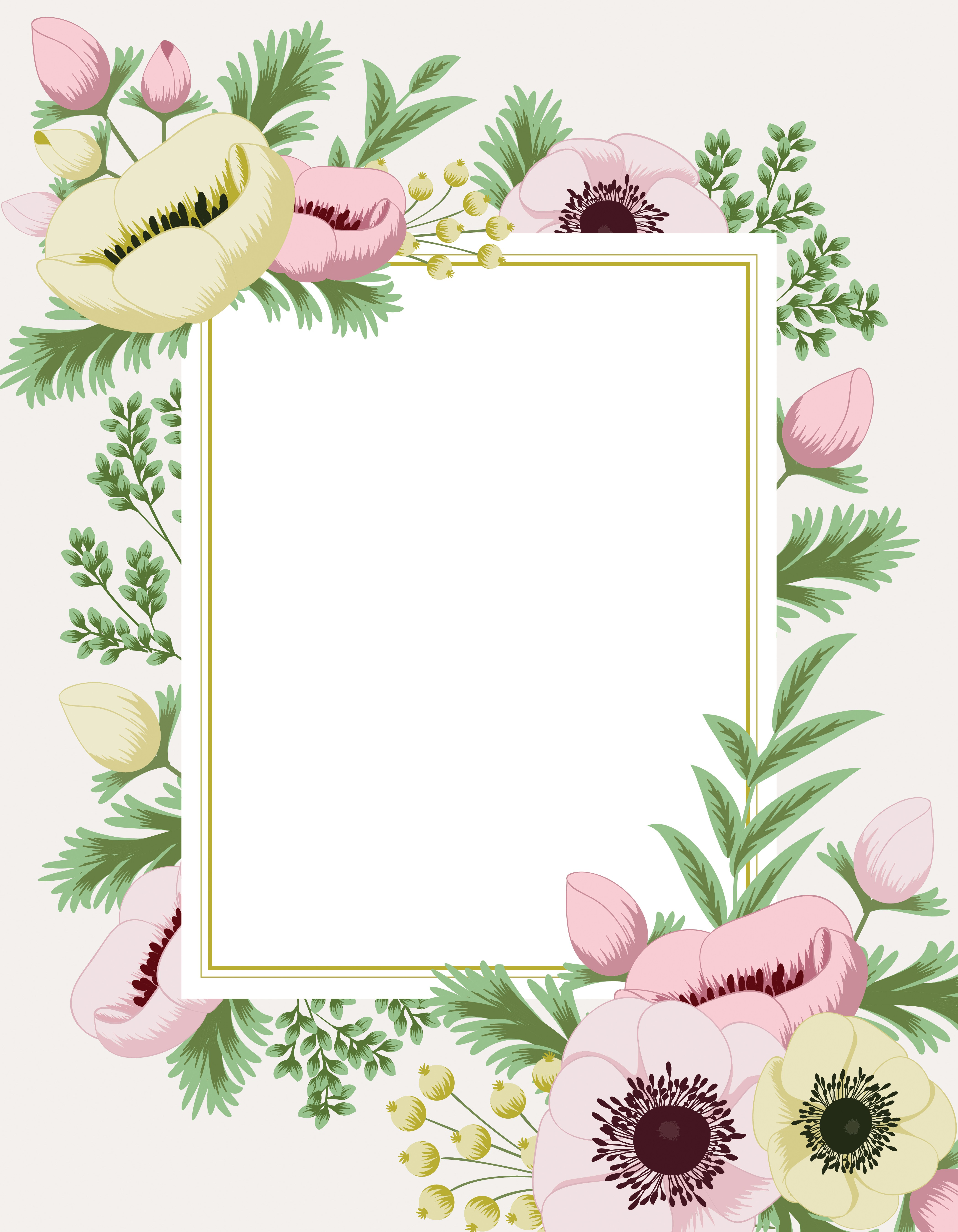 Floral Patterns for Greeting Card Entries #71 and #218