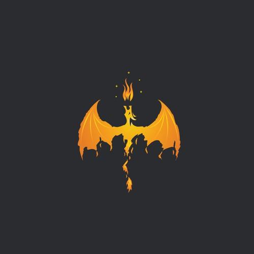 Fiery dragon logo
