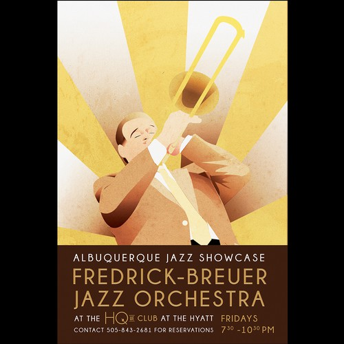 Art Deco Poster for Jazz Orchestra