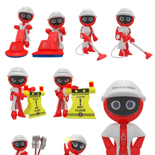 Create a robotic character to capture the DFS social media audience