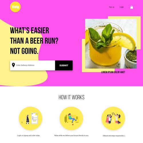 Web design with fun concept