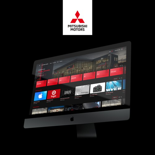 Webpage design for Mitsubishi Motors Rewards