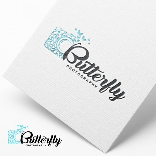 logo for butterfly photography