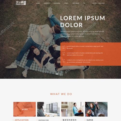 Studies. Web design